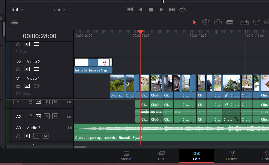 montaža davinci resolve